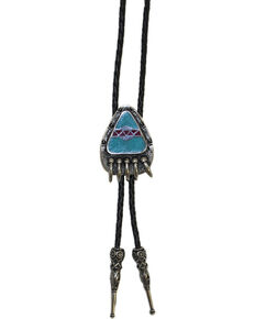 Western Express Bear Claw Bolo Tie, Silver, hi-res