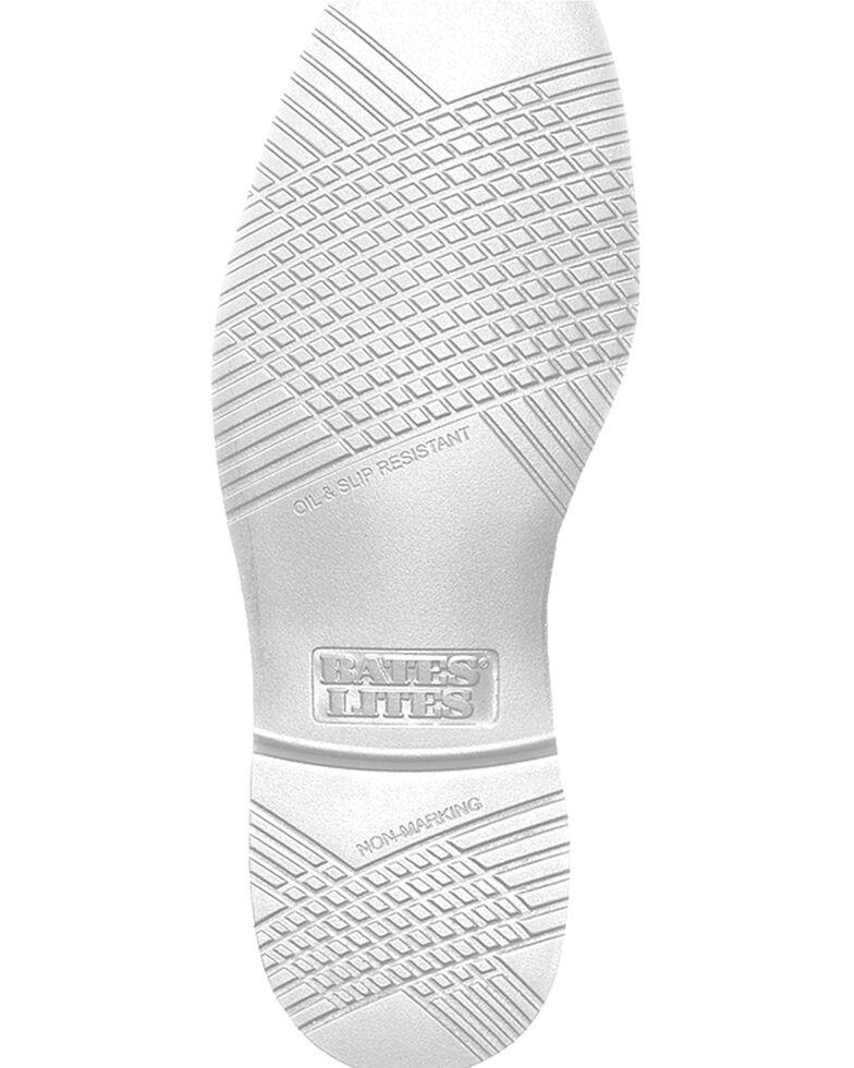Bates Men's White Oxford Shoes, White, hi-res