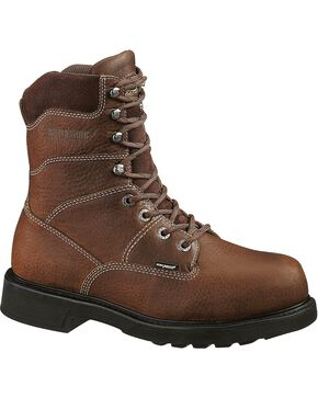 Wolverine Men's Tremor Dura Shocks® Slip Resistant Work, Brown, hi-res