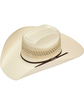 Twister 10X Shantung Straw Cowboy Hat, Tan, hi-res