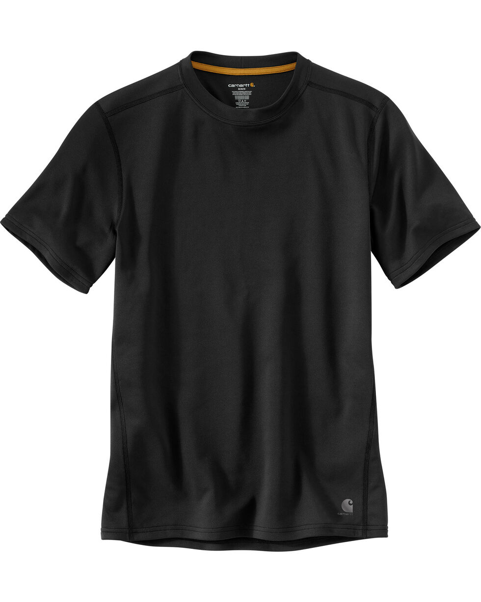 Carhartt Men's Base Force Extremes Lightweight Short-Sleeve T-Shirt - Tall , Black, hi-res