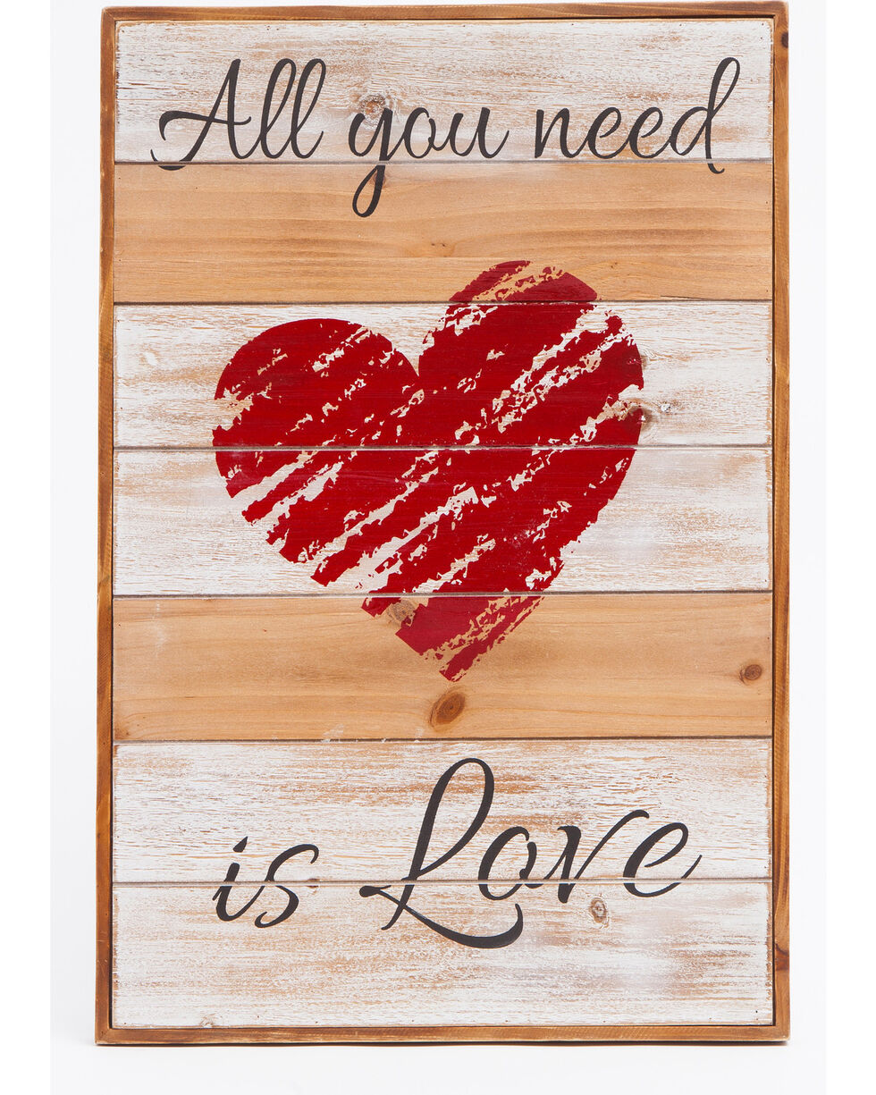 BB Ranch® All You Need Is Love Wall Décor , Red, hi-res