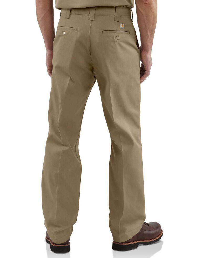 Carhartt Men's Twill Work Pants, Khaki, hi-res