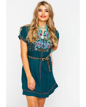 Johnny Was Women's Nena Poncho Tunic Dress , Steel Blue, hi-res