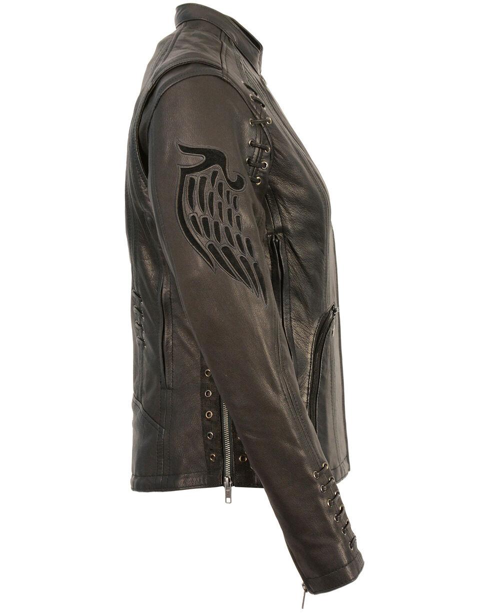 Milwaukee Leather Women's Lightweight Scuba Racer Jacket - 4X, Black, hi-res