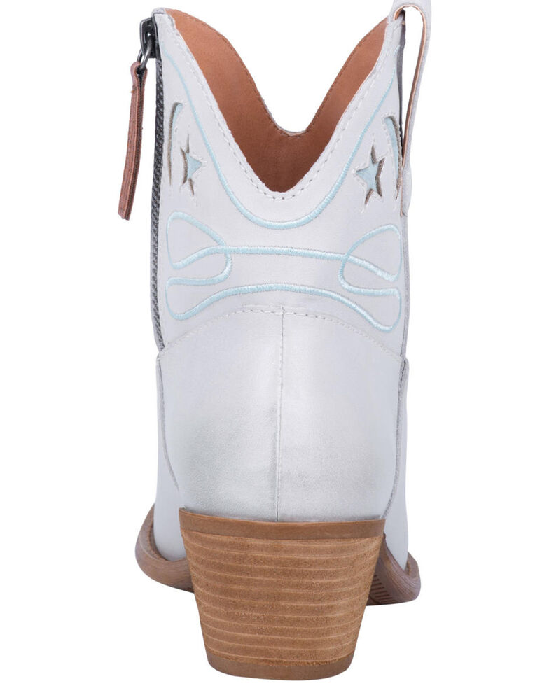 Dingo Women's Off White Urban Cowgirl Western Booties - Round Toe, , hi-res