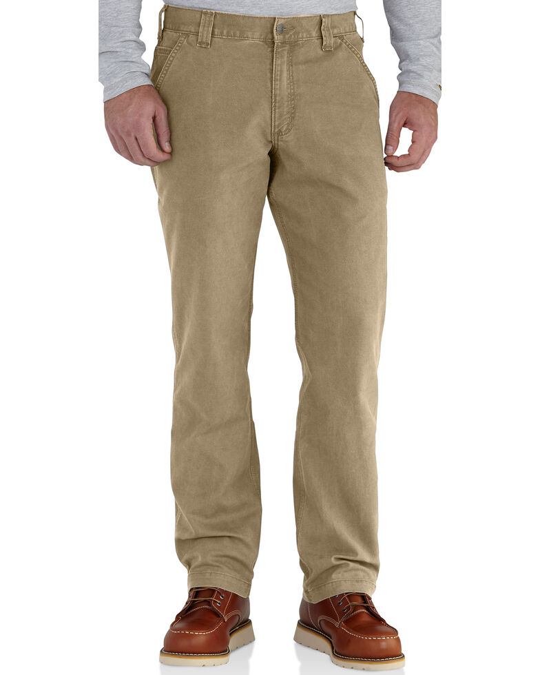 Carhartt Workwear Men's Rugged Flex Rigby Dungaree, Dark Khaki, hi-res