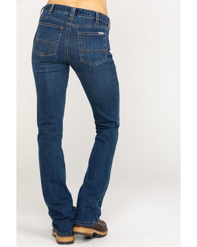 Carhartt Women's Slim Fit Layton Bootcut Jeans, Indigo, hi-res