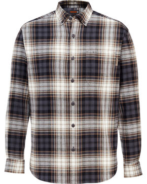 Wolverine Men's Rogan Plaid Flannel Work Shirt , Grey, hi-res