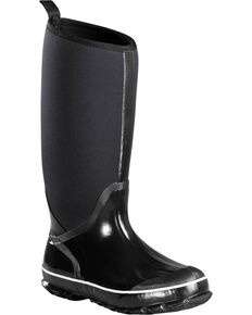 Baffin Women's Black Meltwater Rubber Boots - Round Toe , Black, hi-res