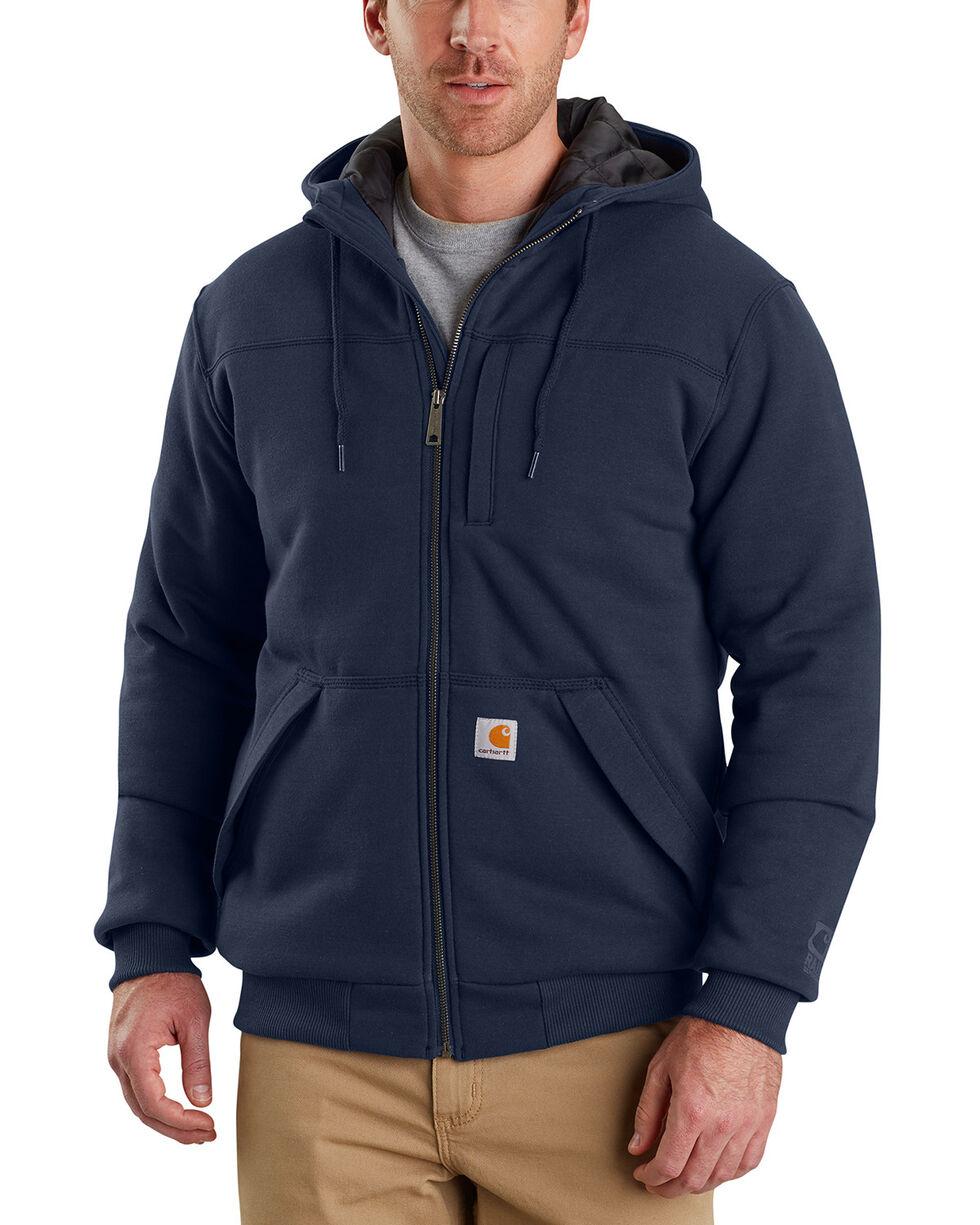 Carhartt Men's Rain Defender Rockland Quilt-Lined Hoodie , Navy, hi-res