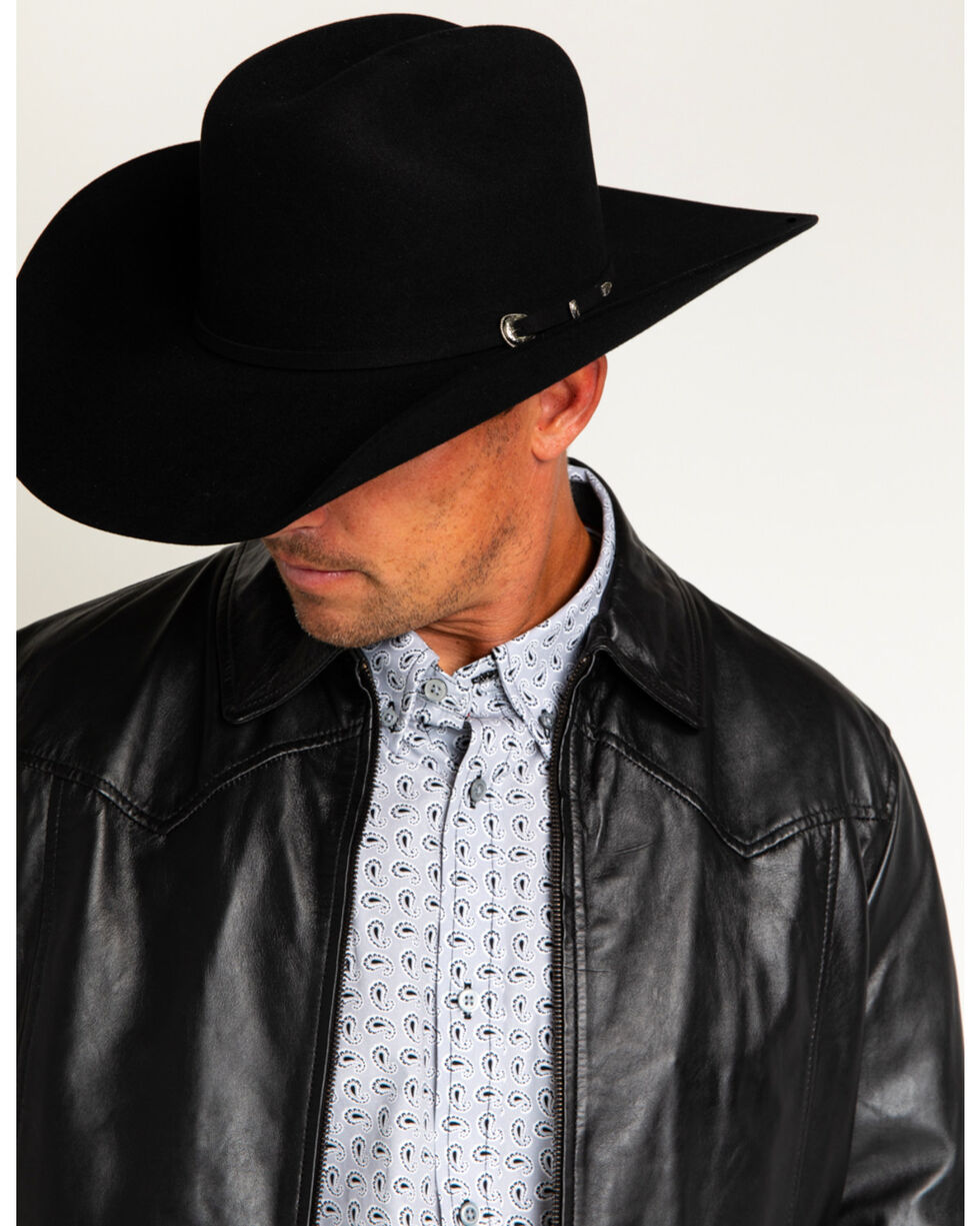 "Cody James® Men's Denton 3X Low Cattleman 4"" Pro Rodeo Wool Hat, Black, hi-res"