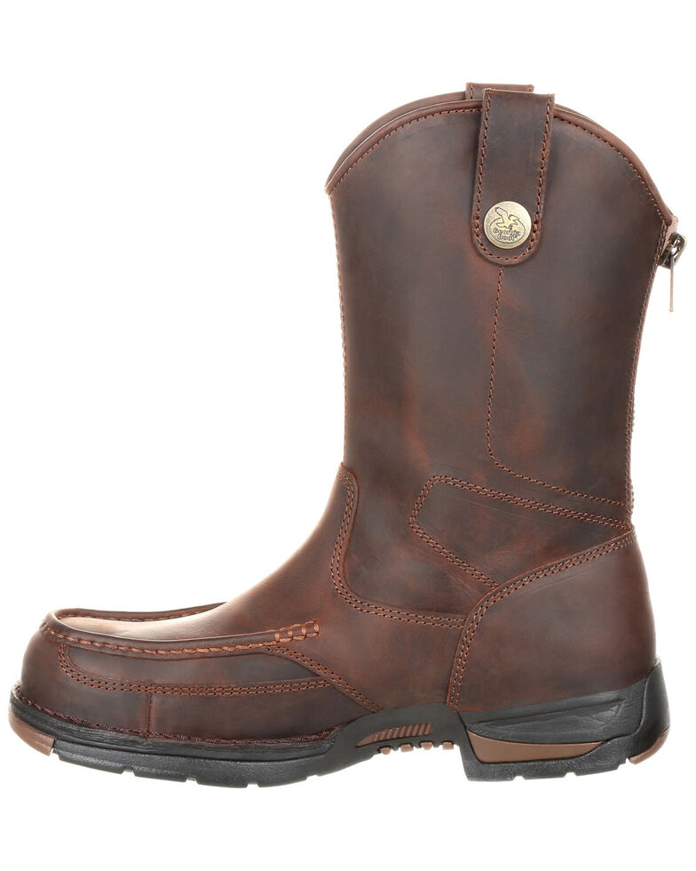 Georgia Boot Men's Athens Western Work Boots - Moc Toe, Brown, hi-res
