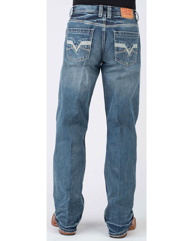 Stetson Men's 1312 Modern Relaxed Fit Bootcut Jeans, Blue, hi-res