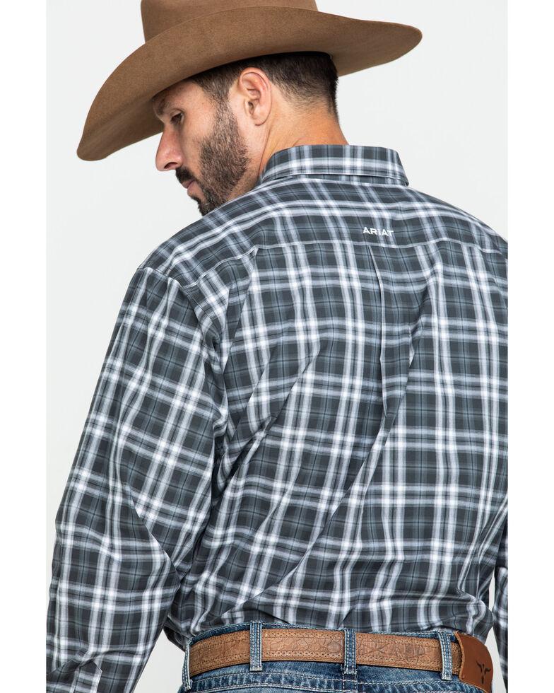 Ariat Men's Farmington Med Plaid Long Sleeve Western Shirt - Tall , Brown, hi-res