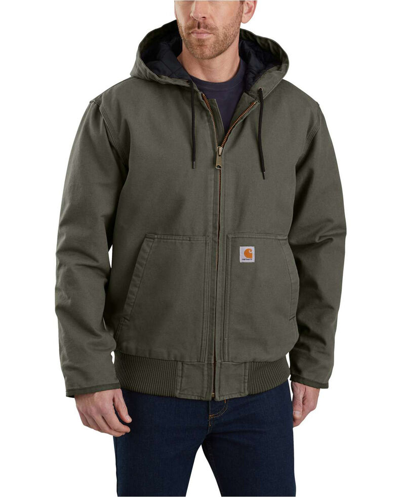 Carhartt Men's Sandstone Lined M 130 Active Work Jacket - Tall , Moss Green, hi-res