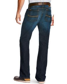 Ariat Men's Blue M5 Legacy Stretch Durham Jeans - Straight Leg, Blue, hi-res