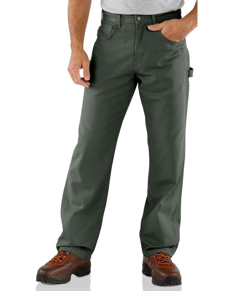Carhartt Men's Loose Fit Canvas Carpenter Jeans, Moss, hi-res