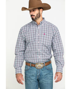Ariat Men's Kermit Plaid Long Sleeve Western Shirt , Multi, hi-res