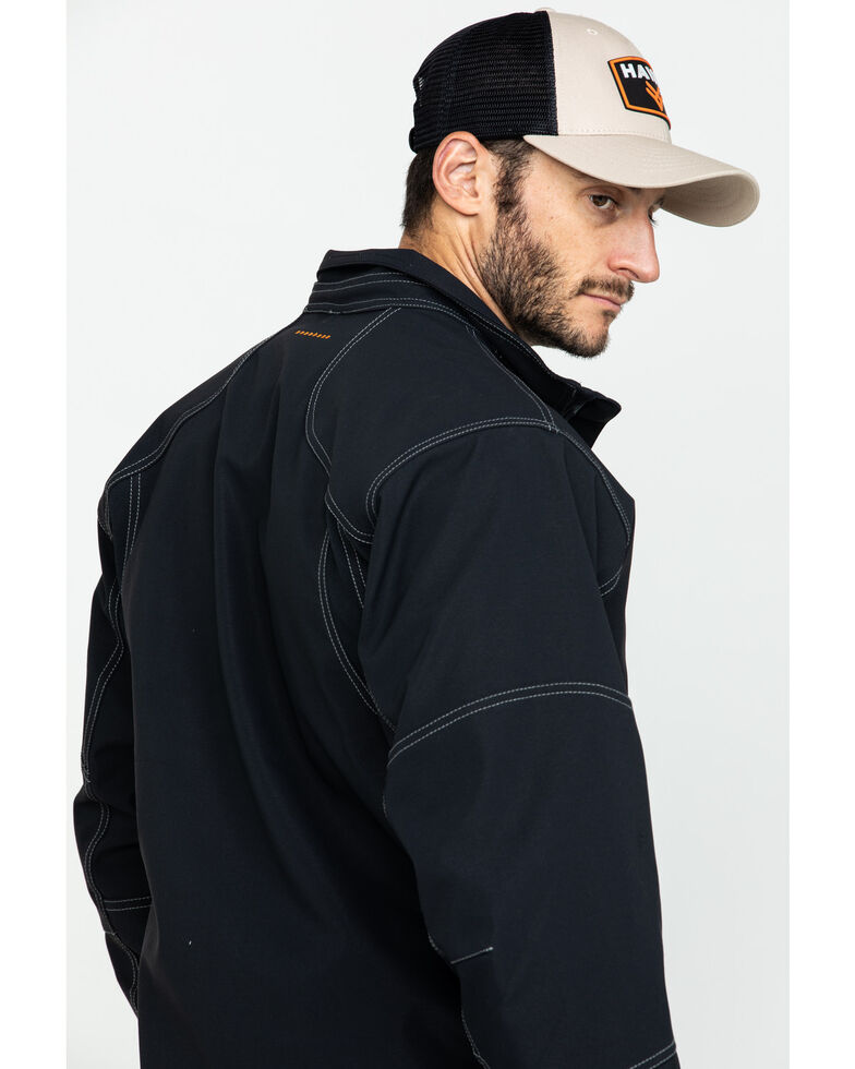 Ariat Men's Rebar Canvas Softshell Work Jacket , Black, hi-res