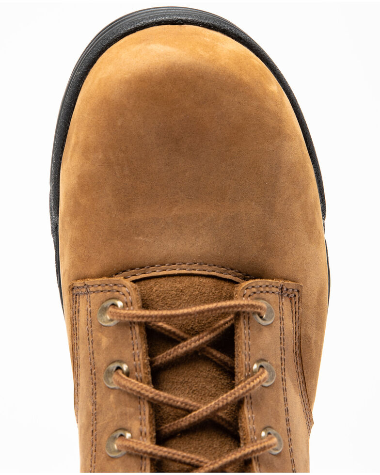 Hawx® Men's Enforcer Lace-Up Work Boots - Composite Toe, Brown, hi-res