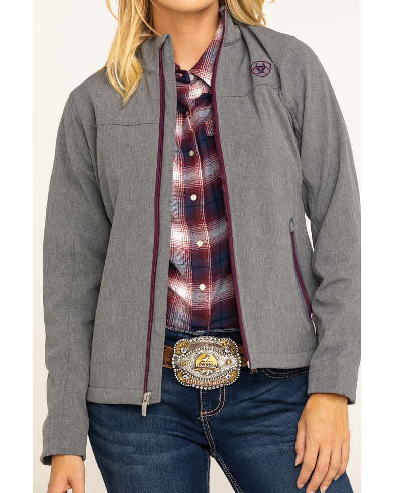 Ariat Women's Charcoal Exclusive Team Softshell Jacket , Charcoal, hi-res