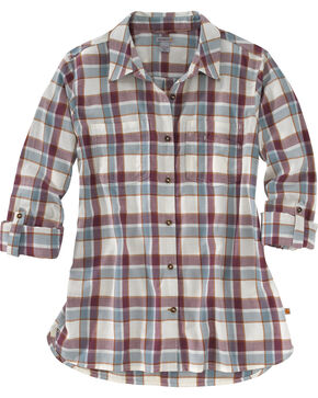 Carhartt Women's Fairview Plaid Shirt , Burgundy, hi-res
