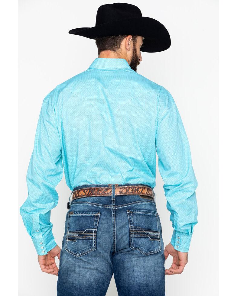 Stetson Men's Blue Diamond Long Sleeve Western Shirt, Turquoise, hi-res
