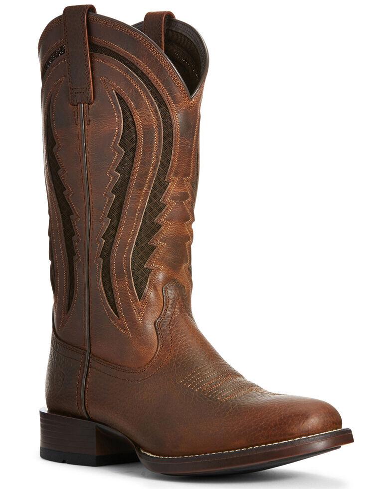 Ariat Men's Butte VentTEK Western Boots - Round Toe, Rust Copper, hi-res