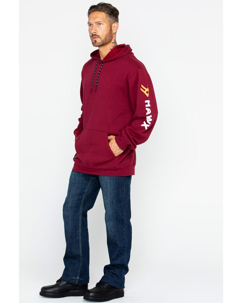 Hawx® Men's Logo Sleeve Work Hoodie , Red, hi-res
