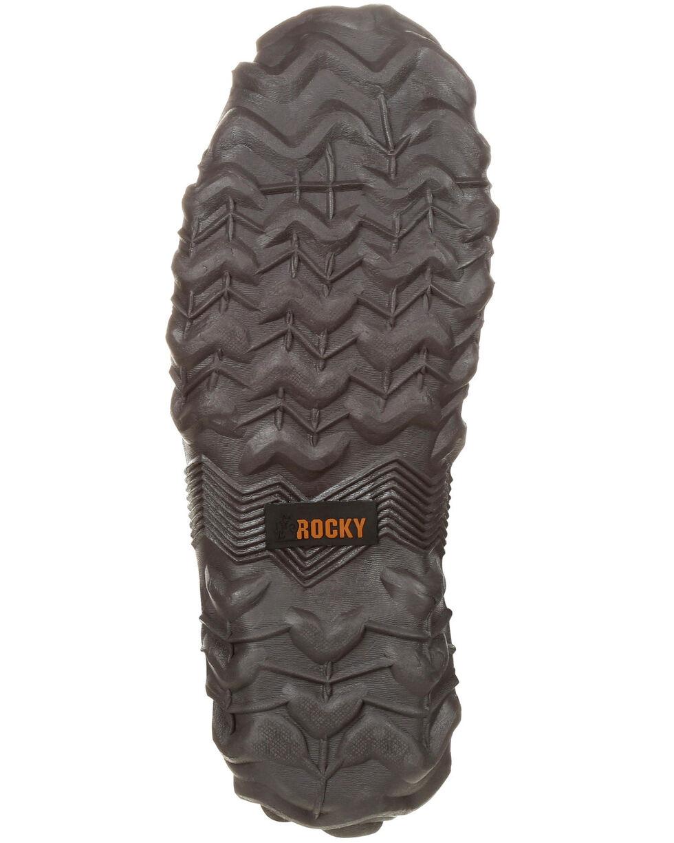 Rocky Men's Waterproof Rubber Work Boots - Round Toe, Brown, hi-res