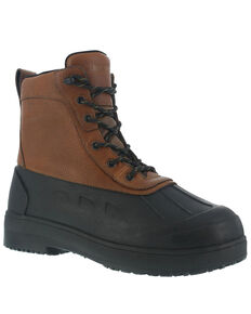Iron Age Men's Duck Waterproof Work Boots - Steel Toe, Brown, hi-res