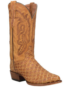 Dan Post Men's Kingman Western Boots - Round Toe, Tan, hi-res