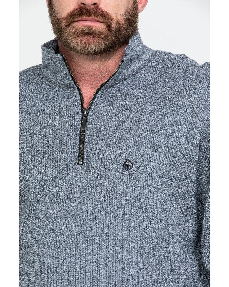 Wolverine Men's Vancouver Sweater Knit 1/4 Zip Work Shirt , Charcoal, hi-res