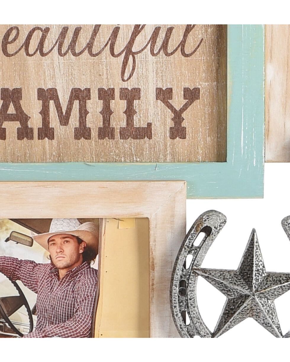 BB Ranch Horseshoe Collage Photo Frame, No Color, hi-res