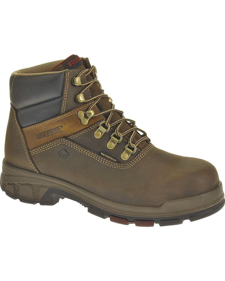 Wolverine Carbor EPX Waterproof Comp Toe Work Boots, Coffee, hi-res