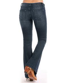 Rock & Roll Cowgirl Women's Basic Pocket Trouser Jeans, Indigo, hi-res