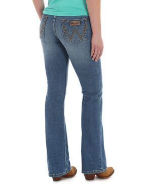 Wrangler Retro Women's Mae Boot Cut Jeans , Indigo, hi-res