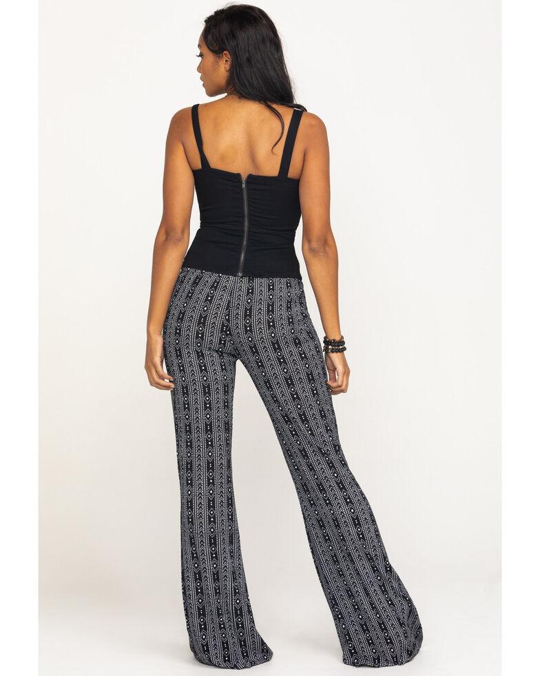 Rock & Roll Cowgirl Women's Black Aztec Print Pants, Black, hi-res