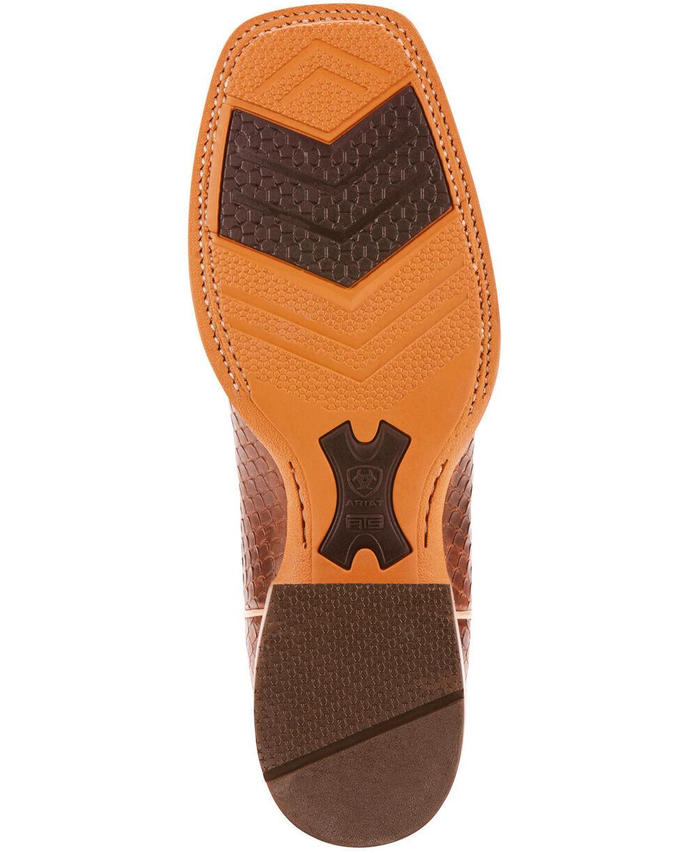 Ariat Men's Range Boss Diamondback Tan Cowboy Boots - Square Toe, Blue, hi-res