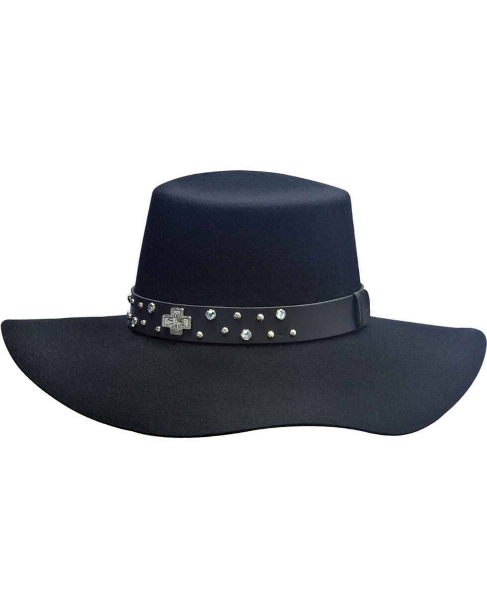 Silverado Women's Belle Flat Top Hat  , Black, hi-res