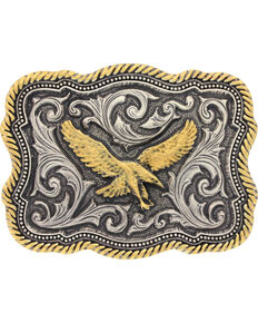 Montana Silversmiths Soaring Eagle Buckle, Silver, hi-res