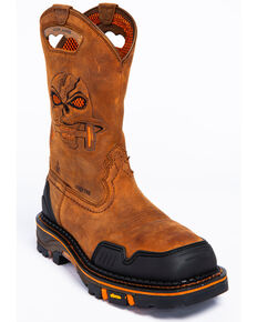 be429d20c050 Cody James Men's Decimator Skull Western Work Boots - Composite Toe