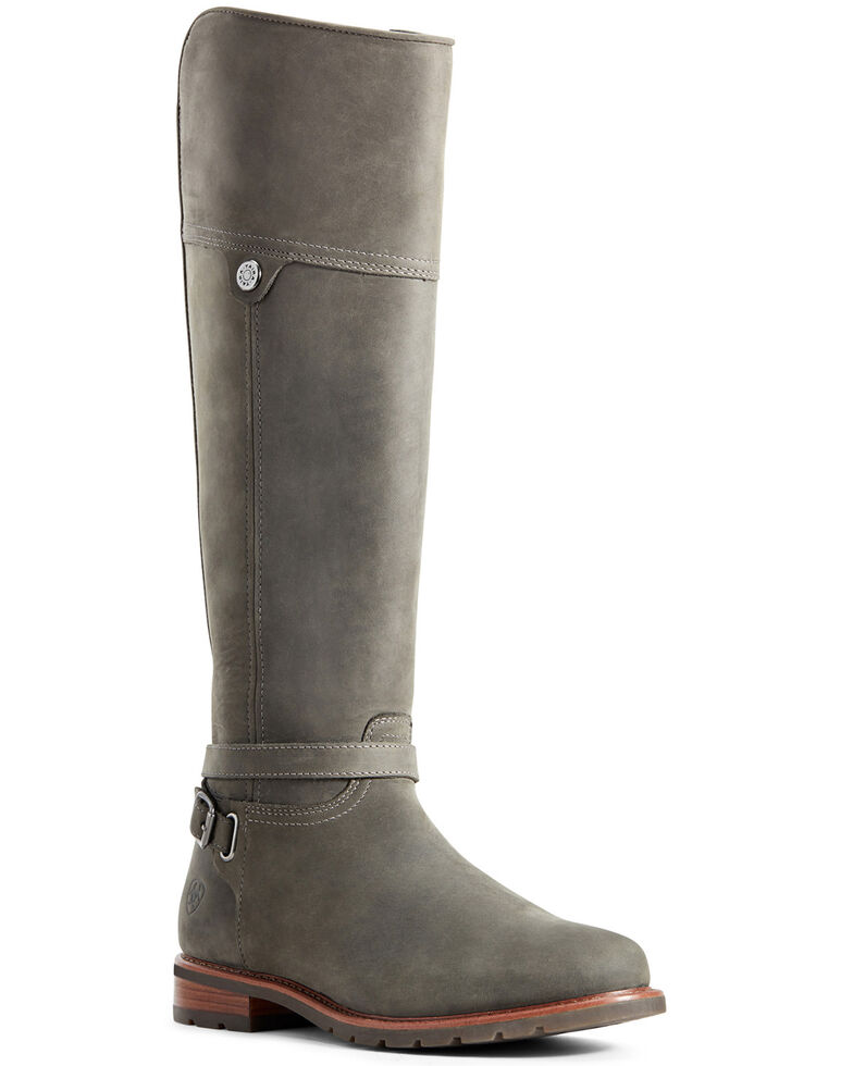 Ariat Women's Grey Carden Waterproof Western Boots - Round Toe, Grey, hi-res