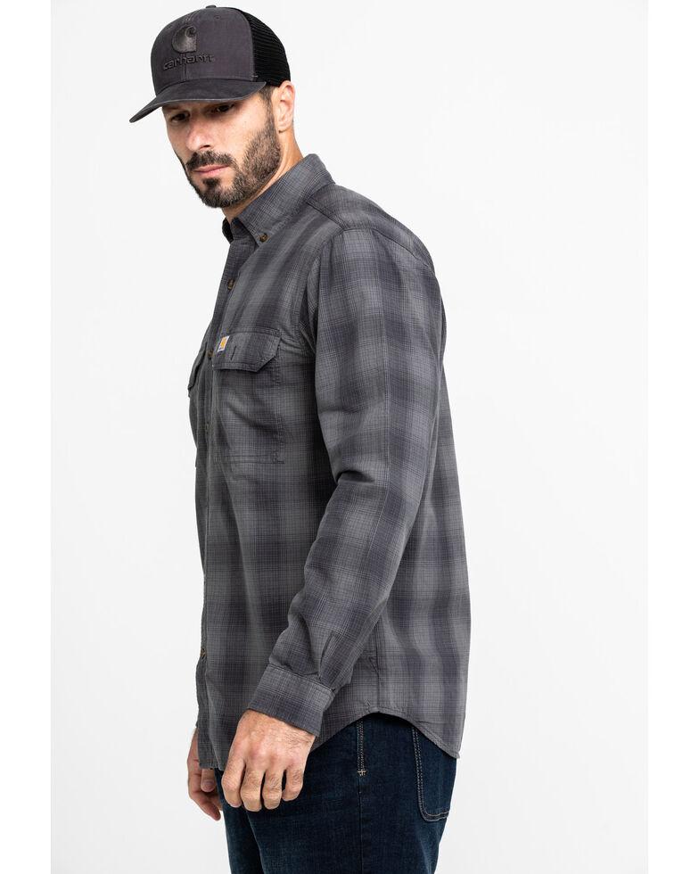 Carhartt Men's Grey Fort Plaid Button Long Sleeve Work Shirt - Big, , hi-res