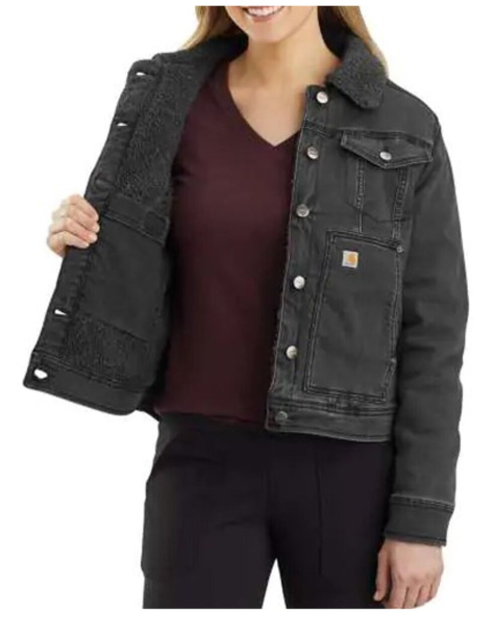 Carhartt womens Rugged Flex Denim Sherpa-lined Jacket