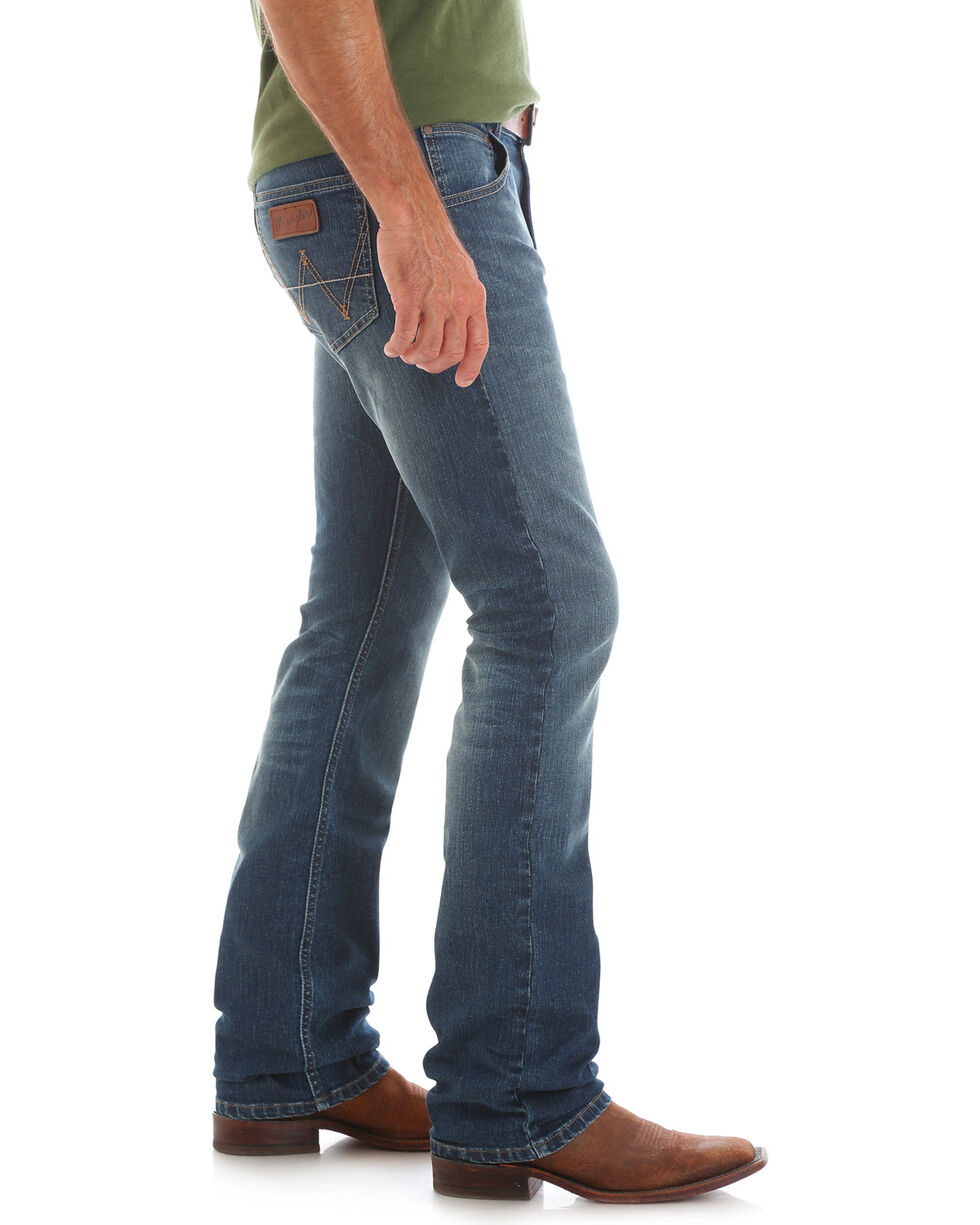 Wrangler Retro Men's Lawton Slim Jeans - Straight Leg, Indigo, hi-res