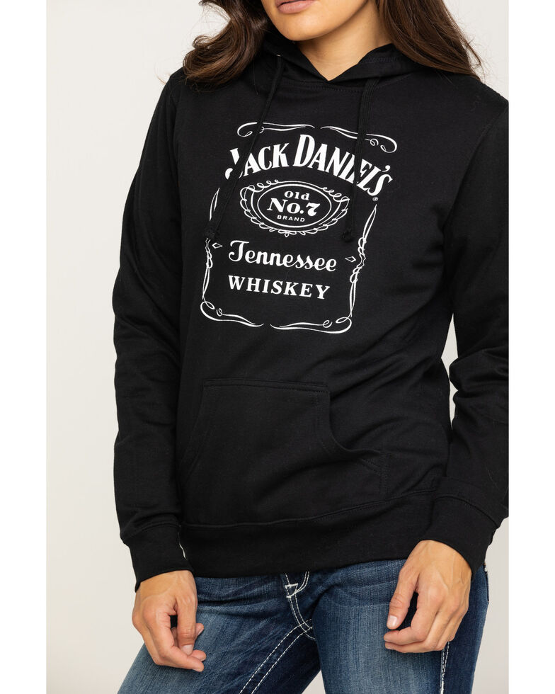 Jack Daniel's Women's Black Traditional Logo Label Hoodie, Black, hi-res