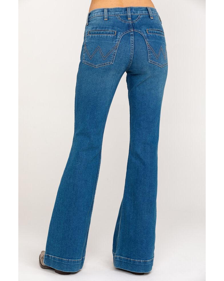 Wrangler Modern Women's Western Yoke Dawn Flare Jeans, Blue, hi-res