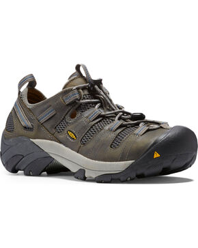 Keen Men's Atlanta Cool ESD Work Shoes, Grey, hi-res